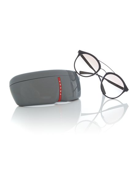 Prada Linea Rossa Black rubber phantos 0PS 04RS sunglasses