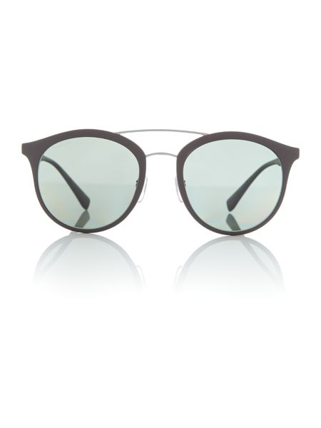 Prada Linea Rossa Brown rubber phantos 0PS 04RS sunglasses