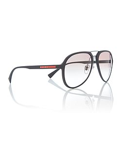 Black rubber pilot 0PS 05RS sunglasses