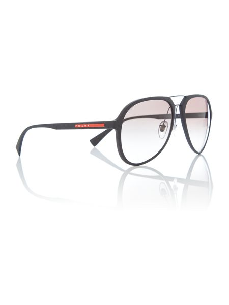 Prada Linea Rossa Black rubber pilot 0PS 05RS sunglasses