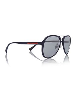 Blue rubber pilot 0PS 05RS sunglasses