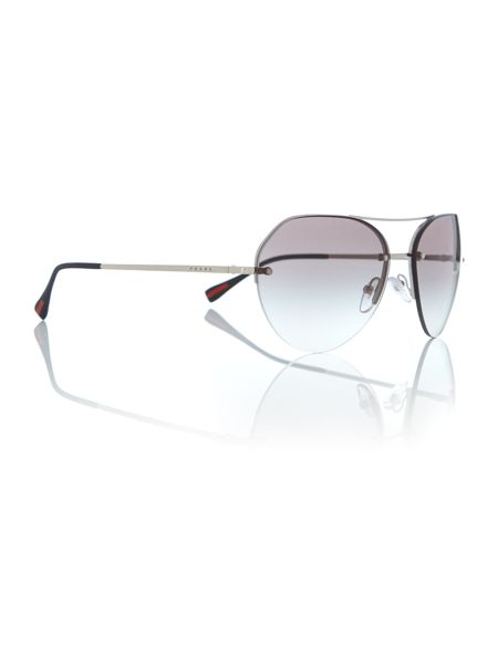 Prada Linea Rossa Silver irregular PS 57RS sunglasses