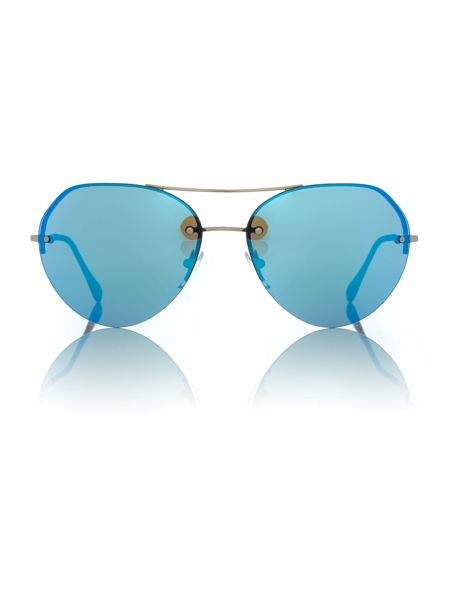 Prada Linea Rossa Gold irregular PS 57RS sunglasses