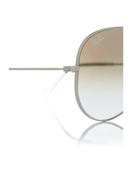 Ray-Ban Matte silver pilot RB3025 sunglasses