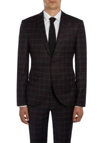 Label Lab Axl SB1 peak lapel  check skinny suit jacket
