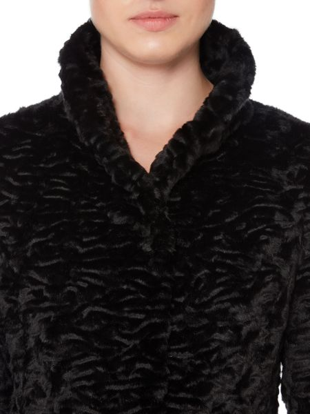 Episode Black faux fur coat