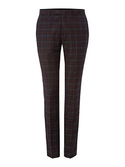 Axl flannel check skinny suit trouser