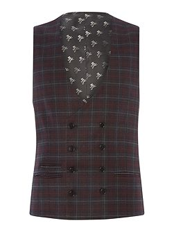Axl flannel check skinny suit waistcoat