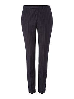 Zepplin flannel chalk stripe skinny suit trouser