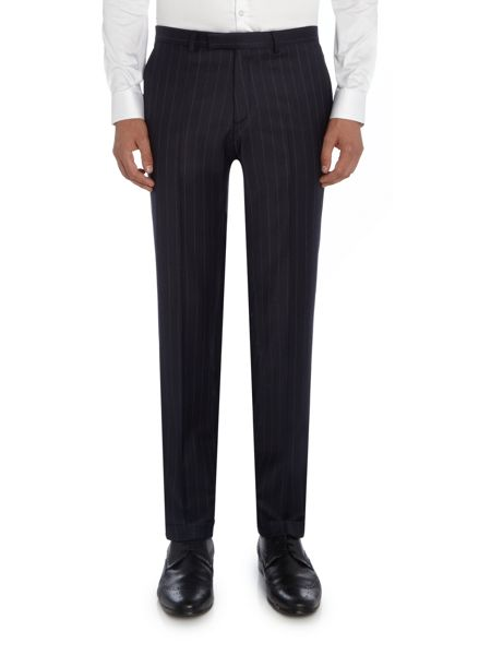 Label Lab Zepplin flannel chalk stripe skinny suit trouser