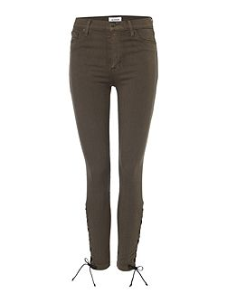 Nix lace hem crop skinny jean in brunswick