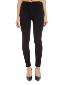 Hudson Jeans Barbara high waist skinny jean in black