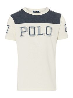 Boys Contrast Polo Logo T-shirt