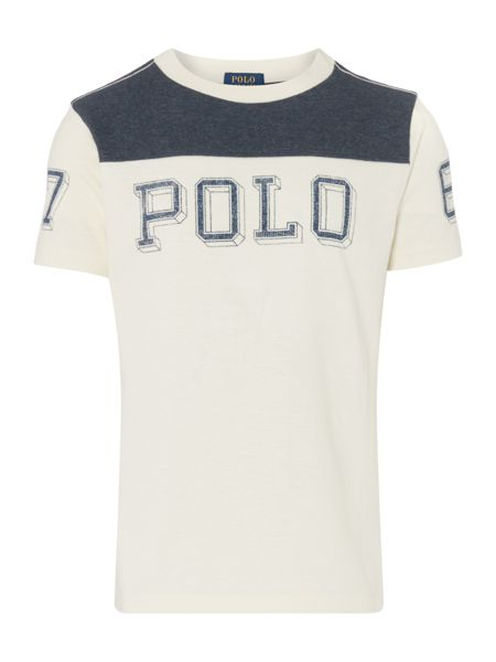 Polo Ralph Lauren Boys Contrast Polo Logo T-shirt