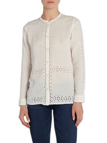 Maison Scotch Shirt with embroidery and cut out design