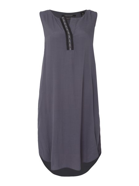 Maison Scotch Sleeveless placket dress