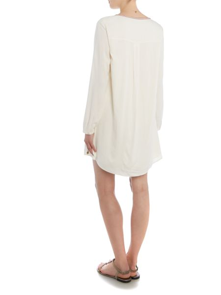 Maison Scotch Long sleeve embroidered dress