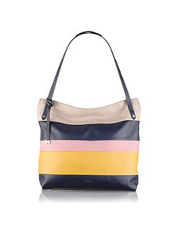 Willow navy large tote bag