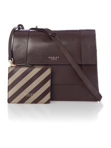 Radley Hardwick brown medium foldover cross body bag