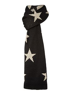 Lurex Star Knit Scarf