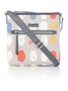 Radley DNA grey medium cross body bag