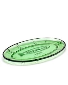 Serax Dish oval flat small 26X14 transparent green