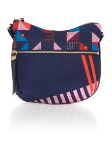 Radley Triagonal navy medium cross body bag