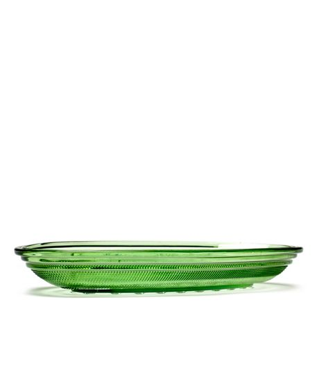 Serax Dish oval flat 26X14 transparent green