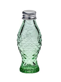 Bottle with lid 2.6x3.2 transparent green