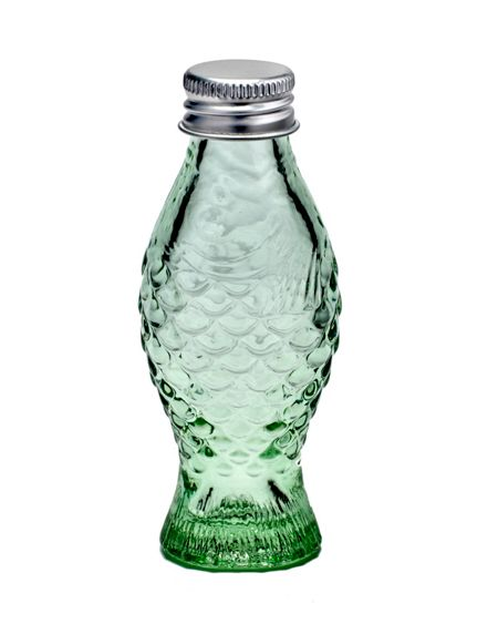 Serax Bottle with lid 2.6x3.2 transparent green