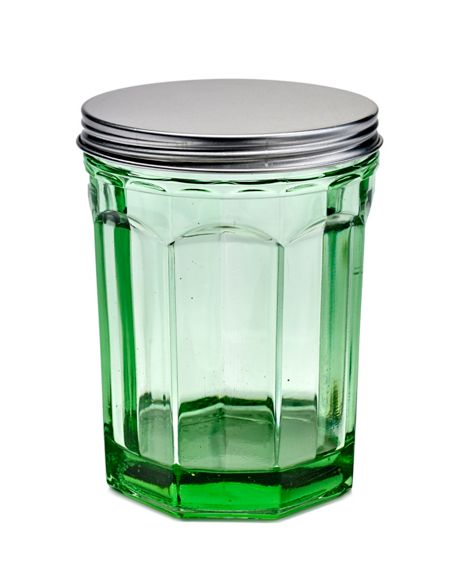 Serax Jar with lid medium transparent green