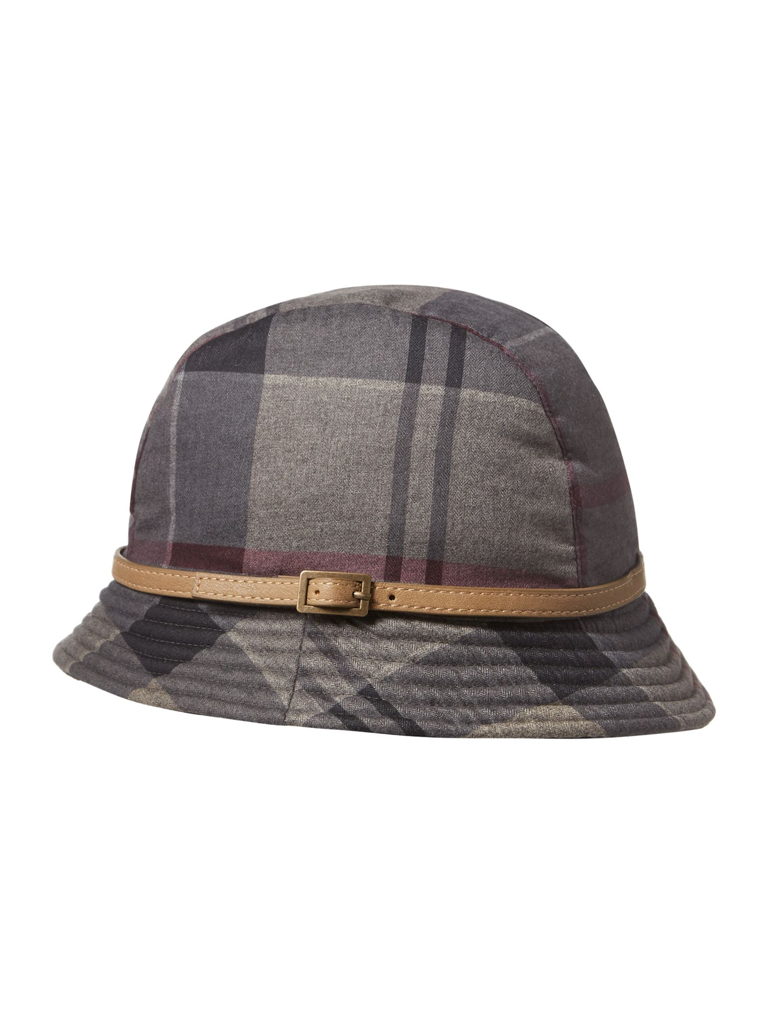 Barbour Winter tartan trench hat Grey