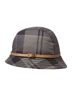 Winter tartan trench hat