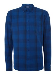 Wrangler Large gingham check long sleeve shirt
