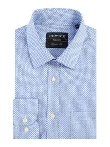 Howick Tailored Coronet geo print shirt