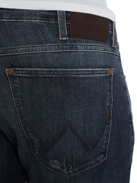 Wrangler Larston mex slim fit distressed jeans