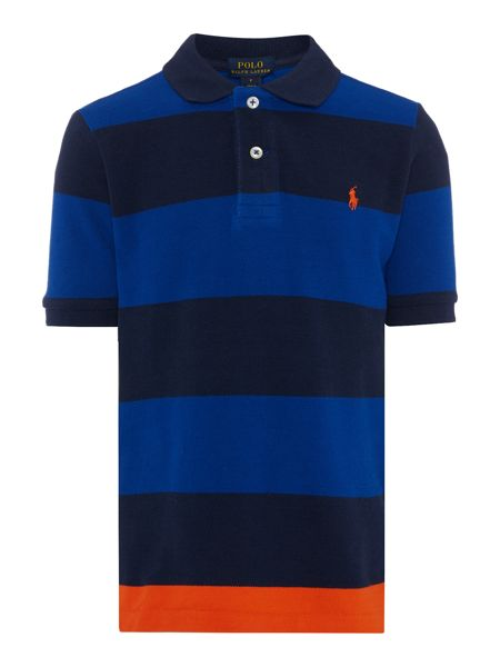 Polo Ralph Lauren Boys Block Stripe Polo Shirt