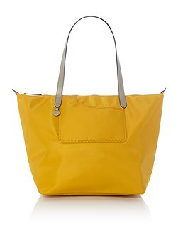Pocket essentials yellow large tote bag
