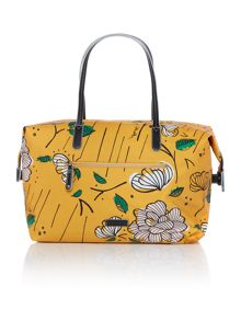 Radley Floralistics yellow tote bag