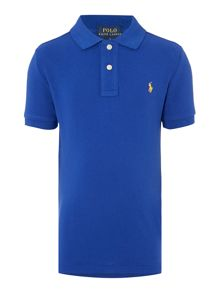 Polo Ralph Lauren Boys Solid Mesh Polo Shirt