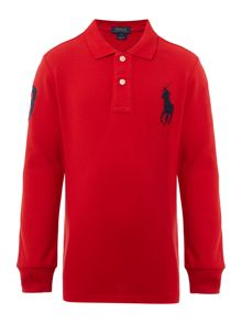 Polo Ralph Lauren Boys Solid Mesh Polo Shirt with Big Polo Pony