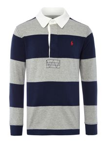 Polo Ralph Lauren Boys Block Stripe Rugby Top