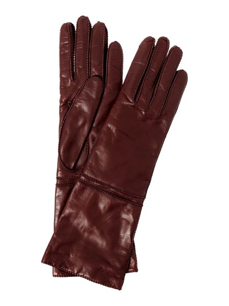 Max Mara Palio long leather gloves