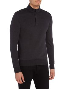 Hugo Boss Sydney 6 zip funnel neck sweat top