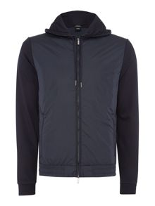 Hugo Boss Seeger 01 reg fit nylon detail zip through hoody