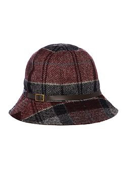 Carlin winter tartan trench hat