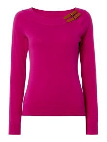Lauren Ralph Lauren Shaela long sleeve raglan boatneck top