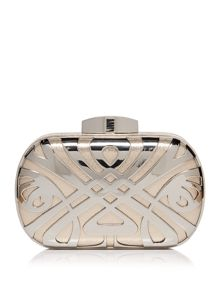 Biba Biba logo box clutch bag