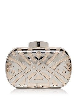 Biba logo box clutch bag