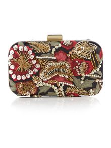 Biba Embroidered clutch bag